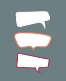 В стиле фанк установленные пузыри речи. иллюстрация штока