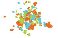 В стиле фанк хаос Confetti сердец иллюстрация вектора