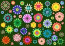 В стиле фанк цветки Стоковые Изображения RF