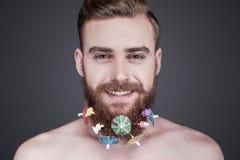 В стиле фанк борода Стоковые Изображения RF