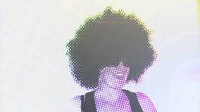 В стиле фанк девушка танцора цифров видеоматериал