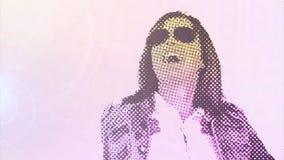 В стиле фанк девушка танцора цифров акции видеоматериалы