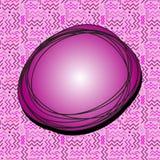 В стиле фанк пузырь речи Fuscia Стоковые Фотографии RF