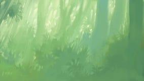 В стороне лес утра бесплатная иллюстрация
