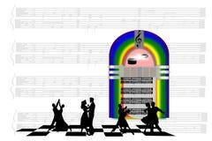 В субботу ночью музыкального автомата Стоковые Фото