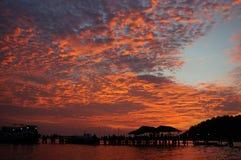 В сумраке _Камбоджи Sihanoukville Стоковые Фото