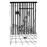 В тюрьме иллюстрация вектора