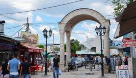 В улицах старого скопья города Скопье столица македонии Стоковое Фото