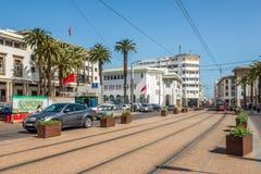 В улице Касабланки в Марокко Стоковые Изображения RF