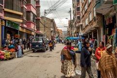 В улице Ла Paz стоковое фото rf