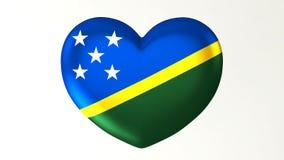 в форме Сердц влюбленность Соломоновы Острова иллюстрации i флага 3D иллюстрация вектора
