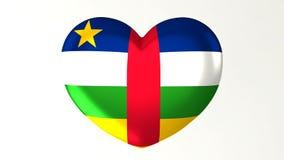 в форме Сердц влюбленность центрально-африканское Republi иллюстрации i флага 3D иллюстрация вектора