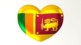 в форме Сердц влюбленность Шри-Ланка иллюстрации i флага 3D иллюстрация штока
