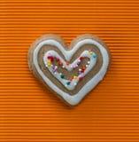 в форме Сердц печенье на день валентинок Стоковое Изображение RF