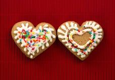 в форме Сердц печенье на день валентинок Стоковое фото RF
