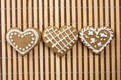 в форме Сердц печенье на день валентинок Стоковое Изображение