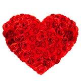 В форме Сердц букет красной розы Стоковое Изображение