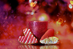 2 в форме сердц печенья в handmade Стоковые Изображения RF