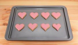 в форме Сердц печенья на день валентинки Стоковая Фотография RF
