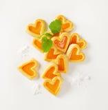в форме Сердц печенья с вареньем Стоковое Фото