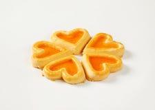 в форме Сердц печенья с вареньем Стоковое Изображение RF