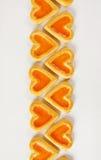 в форме Сердц печенья с вареньем Стоковая Фотография
