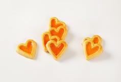 в форме Сердц печенья с вареньем Стоковые Фотографии RF