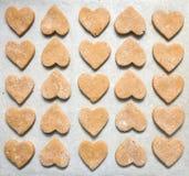 в форме Сердц печенья Стоковая Фотография