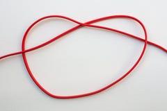 в форме Сердц связь электрического провода Стоковые Изображения RF