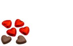 в форме Сердц шоколад для концепции влюбленности/дня валентинки Стоковые Изображения RF
