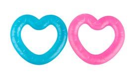 2 в форме сердц teethers Стоковое Изображение RF