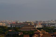 В холме Chunting миллионе 29-ое октября 2017 Jingshan стоковое изображение rf