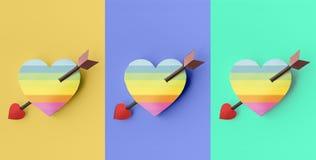 Влюбленности валентинки концепция привязанности совместно счастливая Стоковое Изображение RF