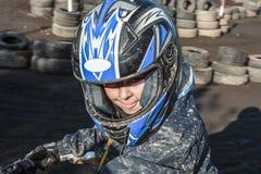 Влюбленности ребенка к гонке с квадом Стоковая Фотография RF