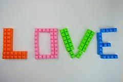 ` Влюбленности ` слова Стоковая Фотография