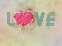 ` Влюбленности ` слова Стоковое Изображение