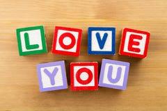 Влюбленность вы забавляетесь блок стоковые изображения rf