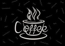 Влюбленность в горячем кофе Стоковое Изображение