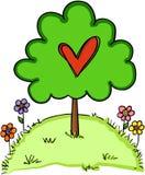Влюбленность дерева сердца иллюстрация штока