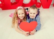 Влюбленность детей Стоковое Изображение RF