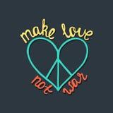 влюбленность делает не войну Вдохновляющая цитата о мире бесплатная иллюстрация