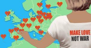 влюбленность делает не войну Стоковые Изображения RF