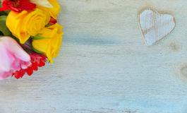 Влюбленность желтых роз Стоковые Фото