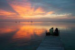 Влюбленность захода солнца стоковое изображение rf