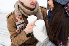 Влюбленность зимы Стоковое Изображение