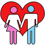 Влюбленность значка ванной комнаты Стоковое Изображение