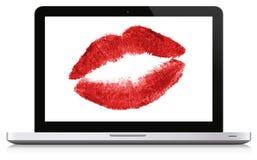 Влюбленность интернета Стоковое фото RF