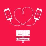 Влюбленность или приложение? Стоковое Изображение RF