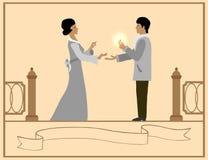 Влюбленность и предложение руки и сердца Стоковая Фотография RF