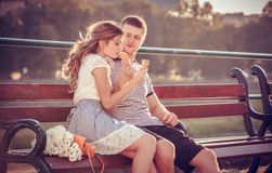 Влюбленность и привязанность между парой Стоковые Изображения RF